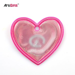 Children Safety Reflective Film Sticker, Printed Heart Reflective Badge