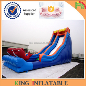 Commercial Adult Inflatable Dubai Water Slide With Pool Big Water Slides For Sale