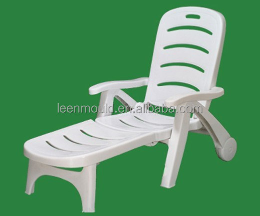 Hot White Plastic Pool Lounge Chairs Foldable Chair Folding Beach