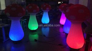 Activity decoration and promotion LED lighting various colorful inflatable mushroom