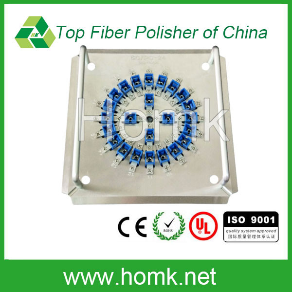 China manufactory SC/PC-24 Fiber polishing fixture which can polish 24 sc fibre connectors