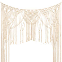 Macrame Woven Wall Hanging Boho Chic,Bohemian Wedding Backdrop for Home Art Decor,Living Room Bedroom Decoration