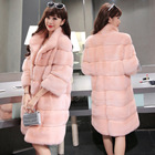 manufacturer custom woman winter oversized coat pink mink faux fur coat