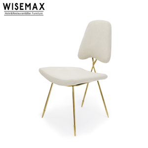Nordic Style Modern Dining room furniture brass gold stainless steel frame Velvet Upholstered Fabric dining chair