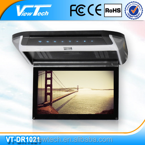 "Whoesale 10.2"" car roof dvd player with hdmi input for Canada market"