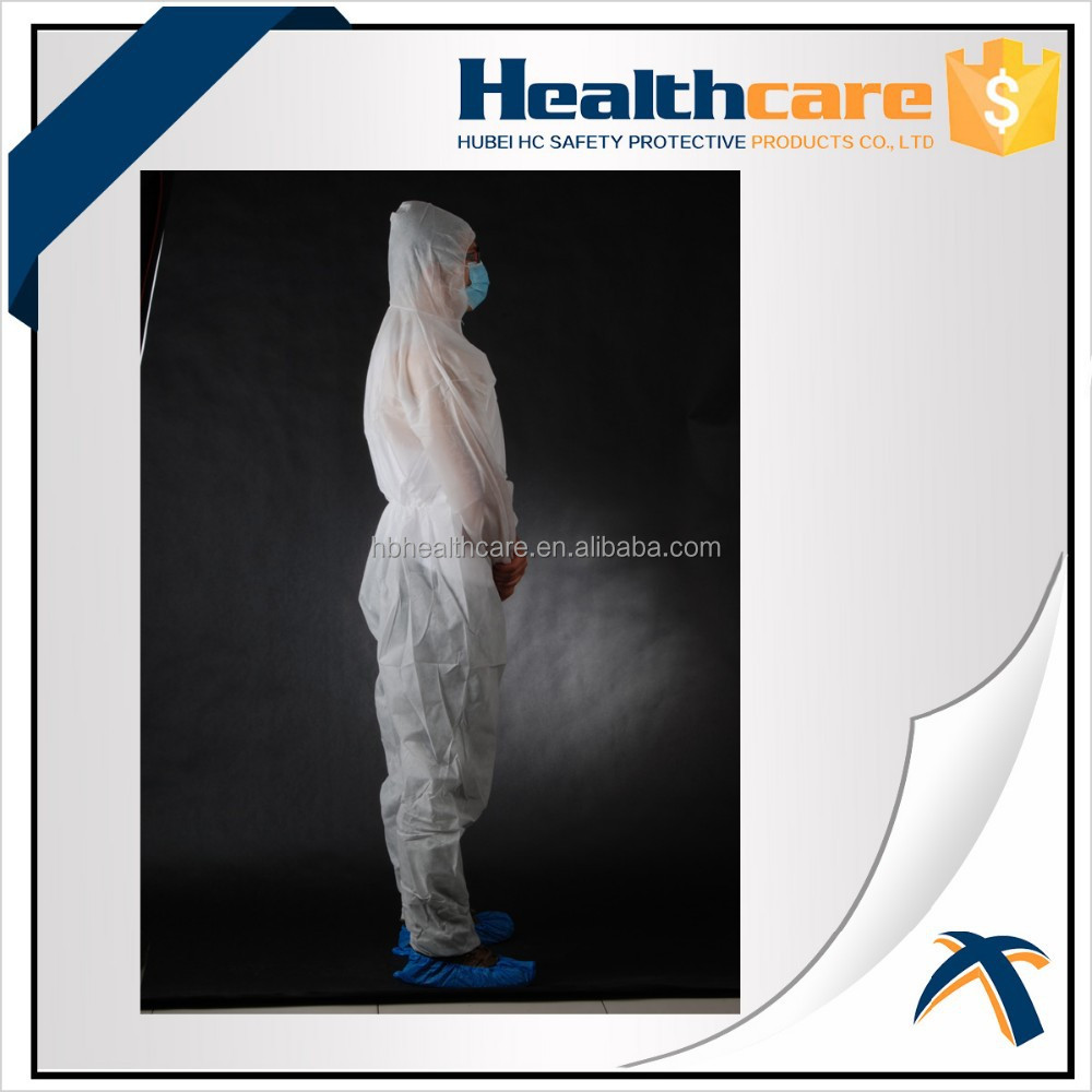 Disposable Coverall With Hood And Shoe Cover