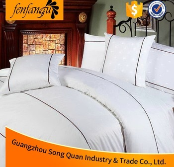 China Hotel Supplier Embroidery Cotton Hotel Bedding Set Quilt ...