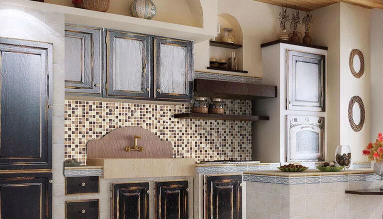 Pietra mattonelle di mosaico per cucina decorazione della for Mattonelle cucina mosaico