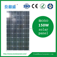 High Quality monocrystalline pv 140w 150w 160w solar panel factory direct wholesale price for home system made by machine