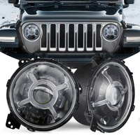 Latest 9 Inch Adjustable Angle Seamless Installation 9 inch Round LED Headlights for Jeep JL 2018 9'' Headlamp for Jeep Wrangler