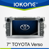 7 inch touch screen 2 din in dash toyota verso car radio cd player with gps bluetooth ipod swc