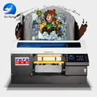 40*50 3 printing tables size direct to garment shirt fabric flatbed printing machine in guangzhou