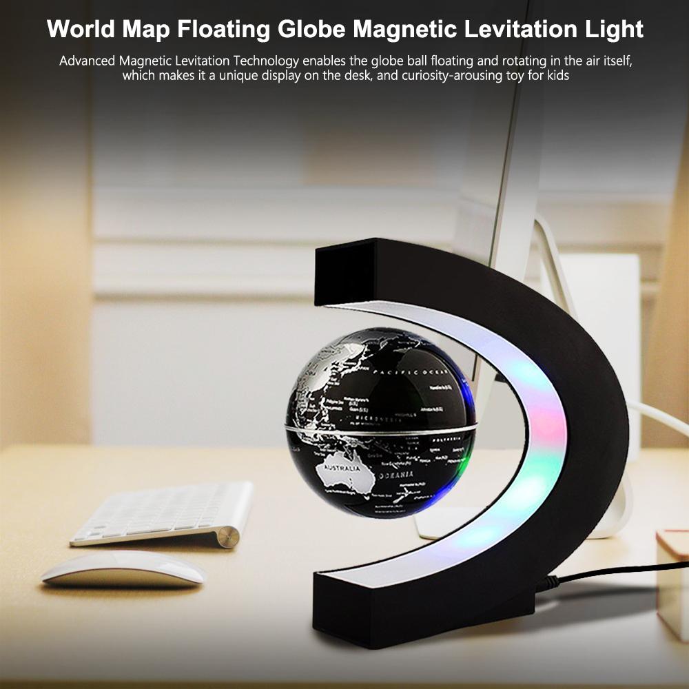 Luz Decoração Interior Mapa Do Mundo de