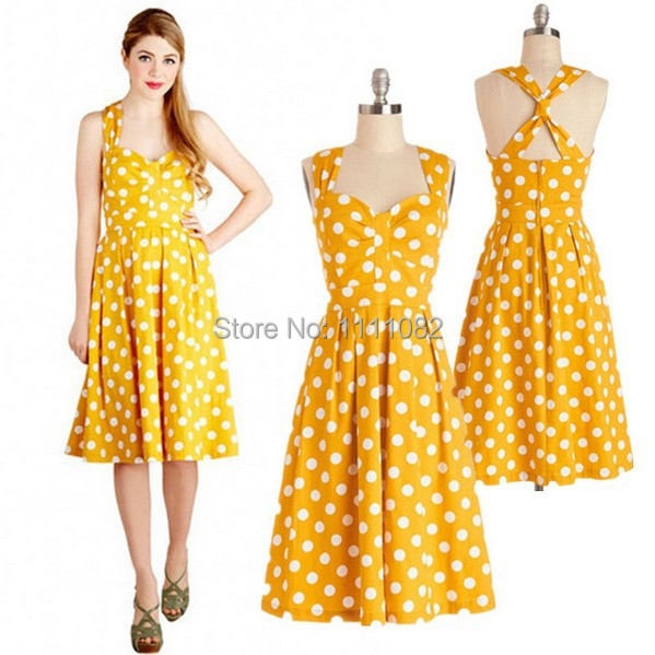Cute Yellow Vintage Dress