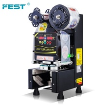 FEST Fabriek Groothandel <span class=keywords><strong>Bubble</strong></span> Thee Apparatuur Volautomatische Cup Sluitmachine Plastic Cup Sealer <span class=keywords><strong>Machine</strong></span> 110 V/220 V