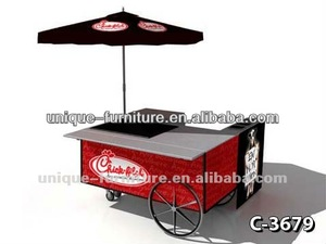 Cool summer love ice cream cart /ice cream cone/ frozen yogurt kiosk