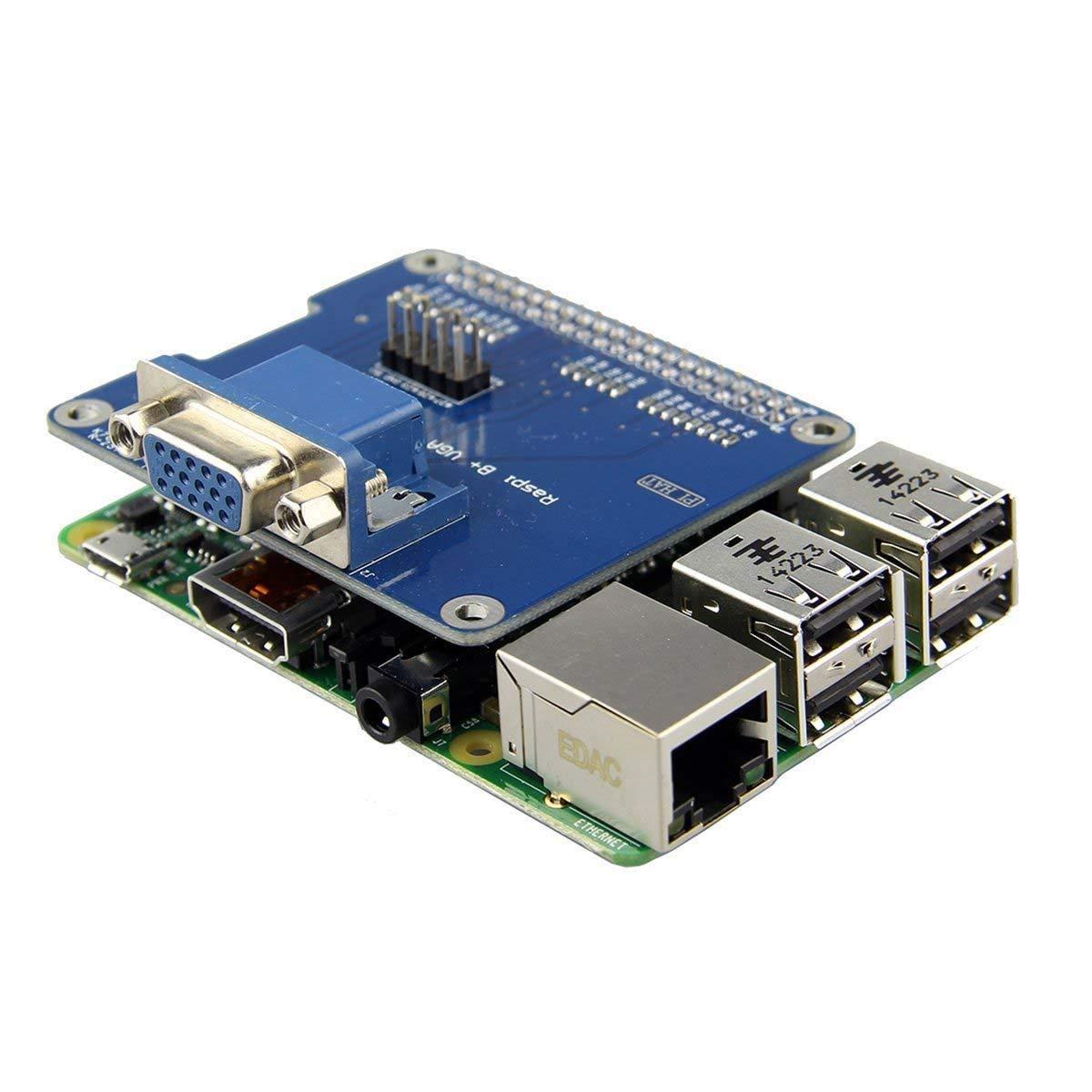 VGA Shield V2.0 Expansion Board - TOOGOO(R)VGA Shield V2.0 Expansion Board For Raspberry Pi 3B / 2B / B+ / A+ / VGA Shield V2.0 Expansion Board For Raspberry Pi 3B / 2B / B+ / A+ . . Extend a VGA interface via GPIO and remain HDMI. . .