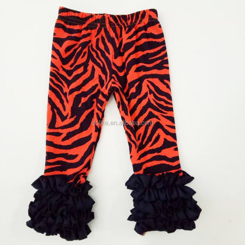 Wholesale Girls Tiger Stripe Pants Ruffle Pants Kids Pants ...