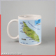 Personalized creative map routes ceramic milk mug for breakfast porcelain drinkware whole customized design