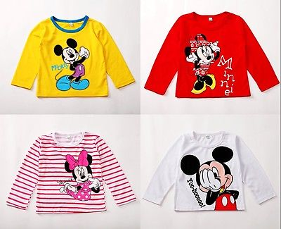 Cartonon Picture Baby Girls Boys Kids Long Sleeve Blouses Tops Shirt Hoodie