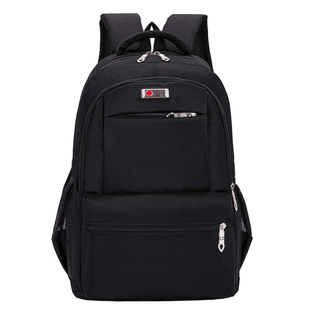 19e420a3fe7 Children Backpack Teenage Girls Boys School Backpack Travel Solid Rucksack  Students Bags (Black)