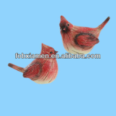 New online Red resin bird figurine
