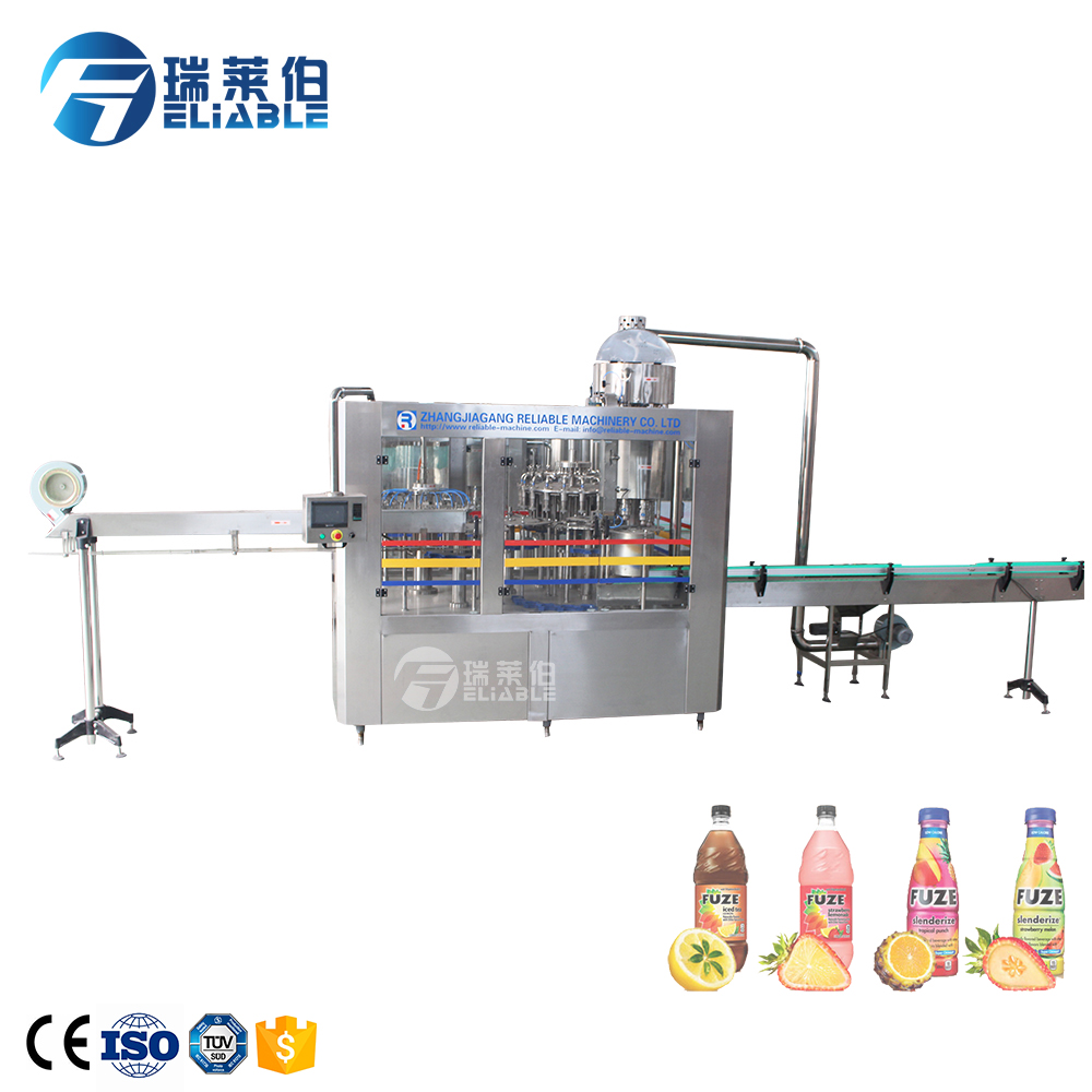 Middle capacity tea juice hot beverage filling machine equipment