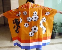 Body cape flag dress use for 2016 world cup football promotion activity