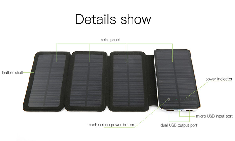 Promotional Battery Solar Power Bank 8000mah Mobile Phone Charger