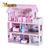 Best sale classic wooden doll house for baby W06A139