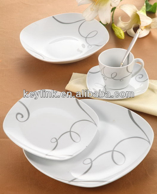 Best quality discount handpainted stoneware dinner set