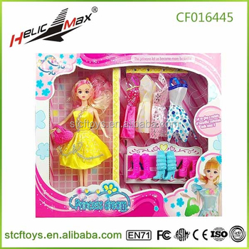 2015 Hot Sale Beautiful Dress Up Doll Games Toys With Different Wedding For Girls