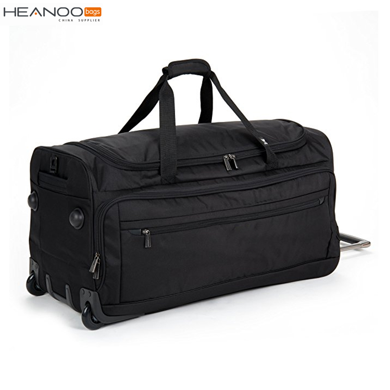 28 inch durable polyester outdoor wheel trolley luggage travel bag