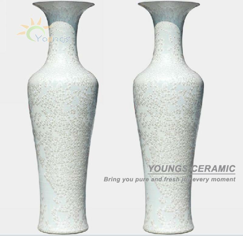 contemporary white vase oversized floor vases living