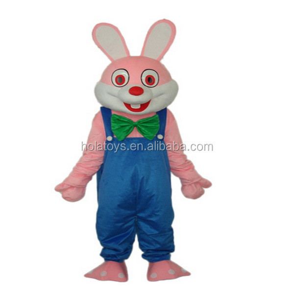 Hola lovely pink rabbit mascot costume/bunny mascot costume for sale