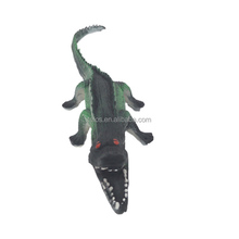 Cartoon Green Crocodile Squeaky Latex Pet Dog Toys Pet Products Wholesale Toy