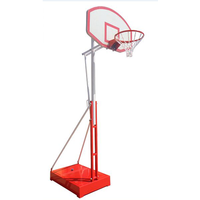 Hot selling height adjustable basketball goal aluminum basketball pole
