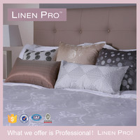 LinenPro Cheap Cross Stitch Bed Sheet 100% Cotton King Size Flat Bed Sheet