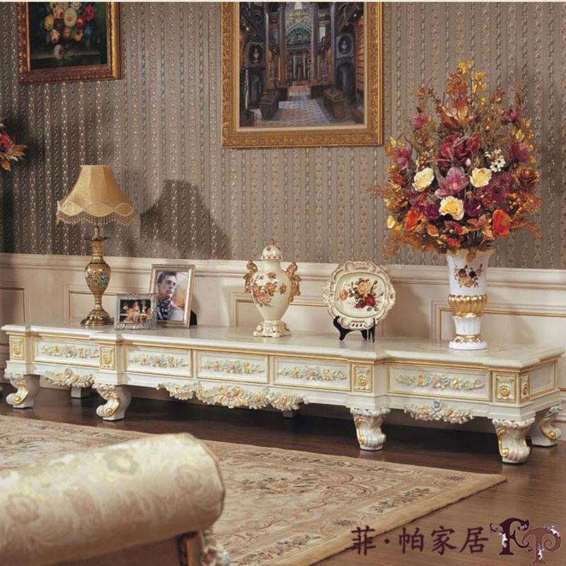 antigua sala de estar con muebles de madera de muebles italiano ...