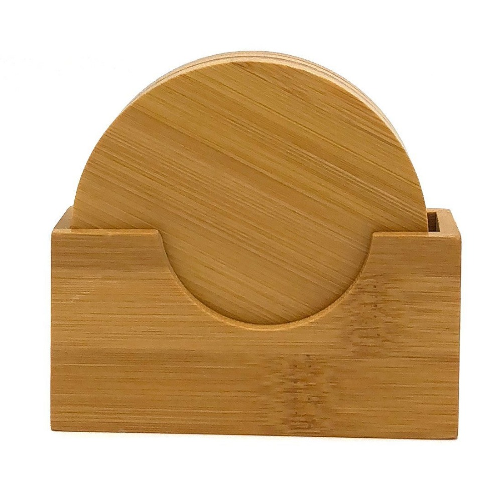 round-shape-bamboo-coaster-set-cup-holder