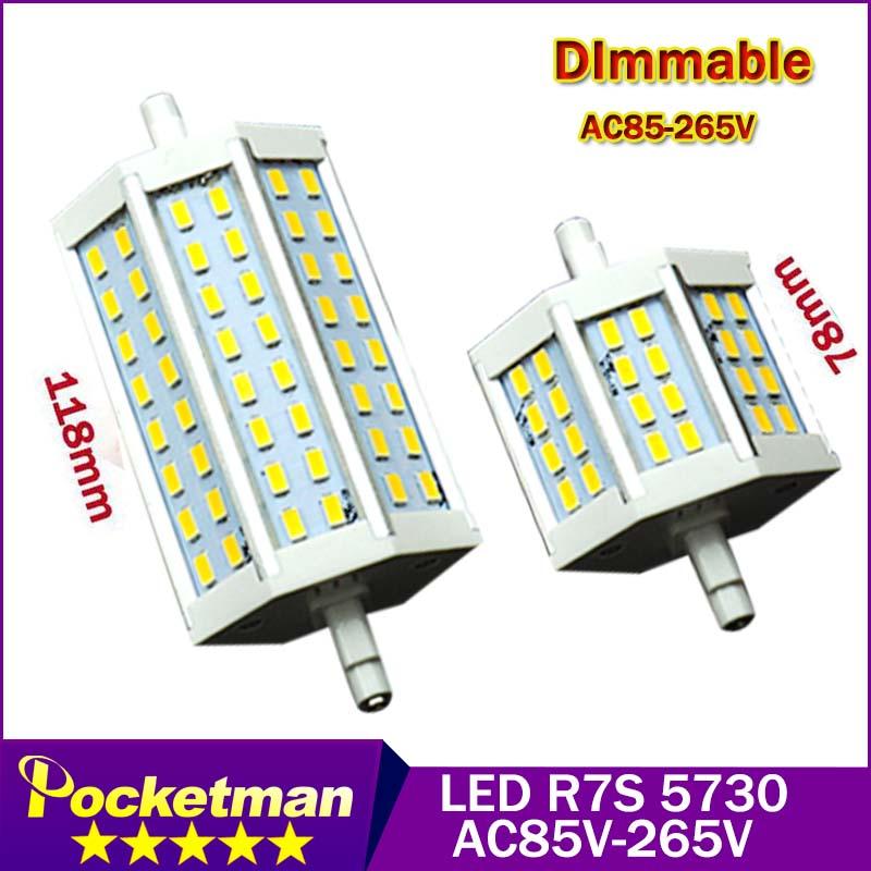 buy r7s led cree smd5730 24 48leds dimmable led r7s 78mm 5w j78 118mm j118 9w bulb light halogen. Black Bedroom Furniture Sets. Home Design Ideas