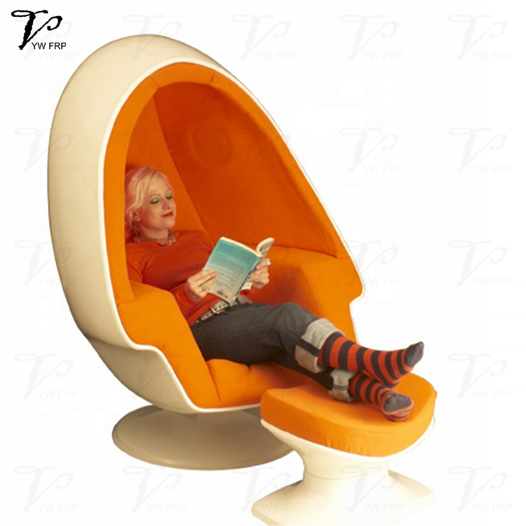 Fiberglass Lee West Stereo Alpha Egg Pod Lazy Swivel Lounge Living Room  Gaming Chair With Speaker And Ottoman - Buy Lee West Stereo Alpha Egg Pod