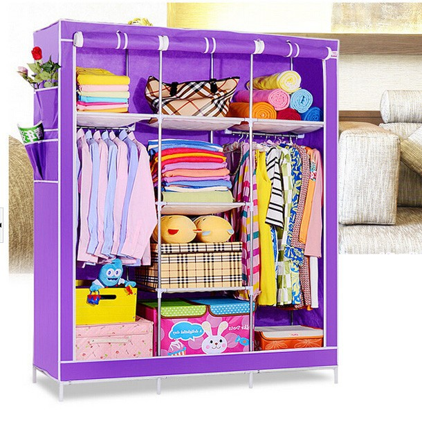 Color p rpura tela de ikea armario port til closets fh for Armarios de tela ikea