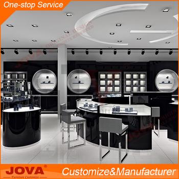 High End Custom Jewellery Showroom Shop Furniture Design, Glass Jewelry  Display Cabinet For Shop