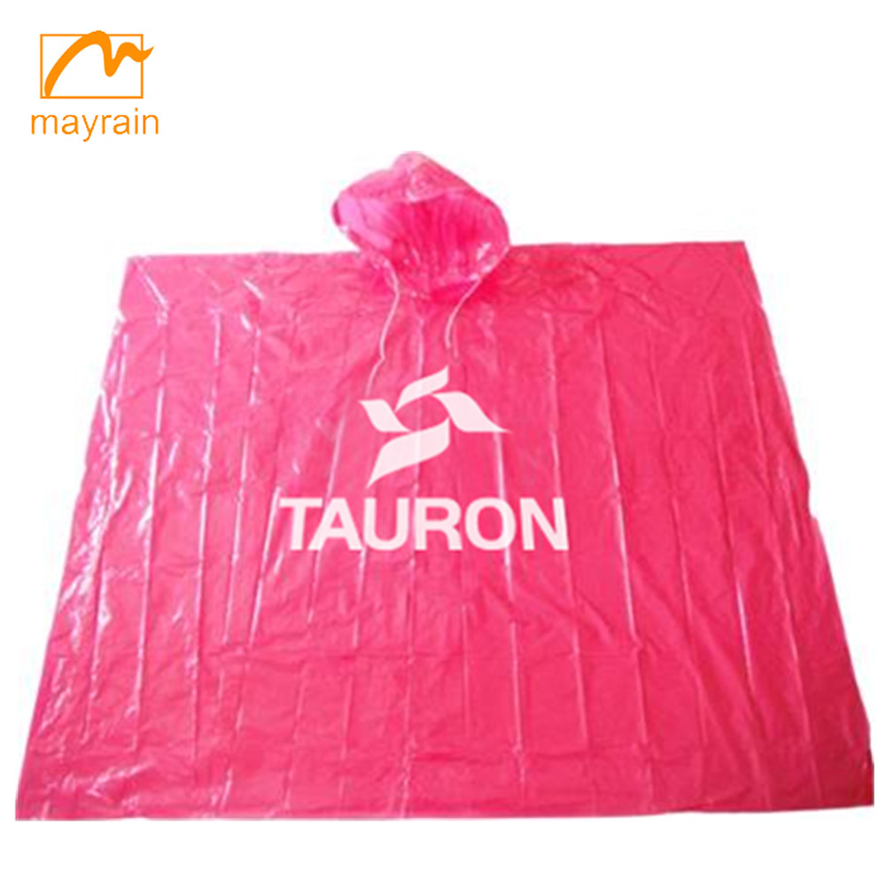 100% Waterproof Single Use Rain Poncho