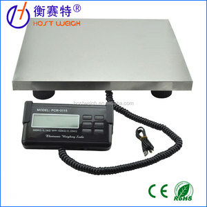 HOSTWEIGH LCD Digital Floor Bench Scale Postal Platform Shipping/Pet 300KG Weigh scale