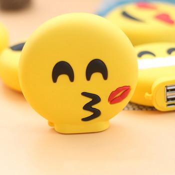 Mini Dent Drôle Smiley Dessin Animé Emoji Banque De Puissance 8800 Mah Cadeau Mode Chargeur De Batterie Externe Chargeur De Téléphone Portable De La