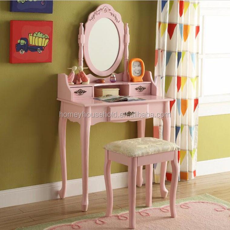 muebles de dormitorio moderno tres gavetas escritorio tocador con espejo