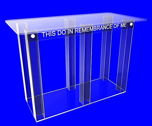 FixtureDisplays Clear Acrylic Plexiglass Church Communion Table Desk 11461-Glue Version 11461