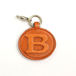 Alphabet/Initial B Leather 3D Letter Personalize/Custom/Keychain/Key Fob/Keyring RFID Cheap Keyring Wholesale